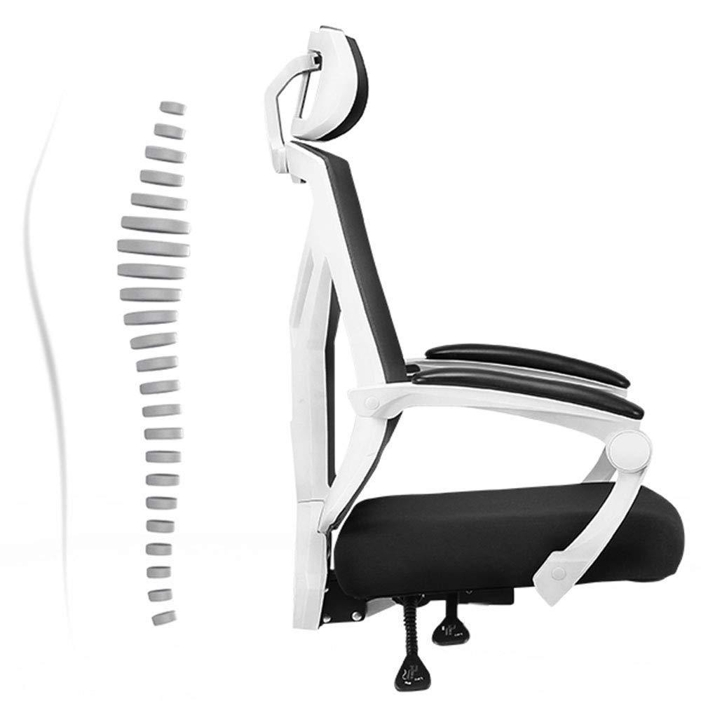 Barstolar Xiuyun dator stol utrymme gräns sergonomisk kontorsstol hög nät skrivbord hushåll solid struktur kapacitet kraftigt trä (färg: svart) Svart
