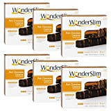 WonderSlim High Protein Meal Replacement Bar - High Fiber, Kosher, Rich Chocolate Caramel - 6 Box Value-Pack (Save 10%)