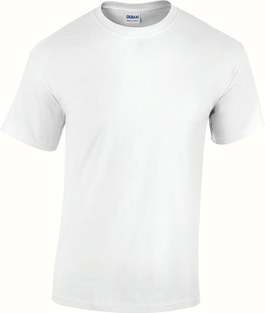 Gildan 4100 Premium Cotton Spun-Ring-Camiseta de manga corta blanco large: Amazon.es: Ropa y accesorios