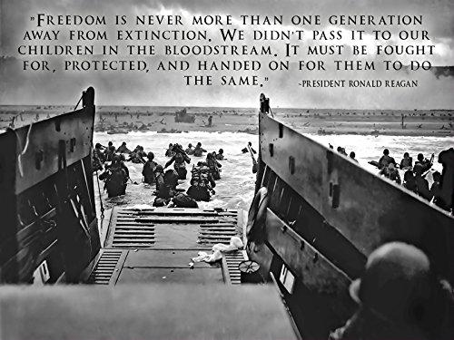 World War 2 Poster DDAY Invasion Military Motivation Poster 18x24 (DDAY12)