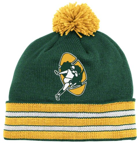 NFL Mitchell & Ness Green Bay Packers Green-Gold Throwback Jersey Striped Cuffed Knit Beanie ()