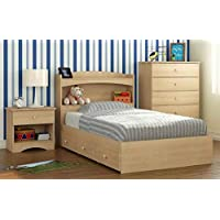 3-Pc Eco-Friendly Kids Twin Bedroom Set