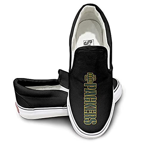 HYRONE Green Bay Logo Packers Cool Sport Shoes Baseball Black (Green Bay Packers Hat Scarf)