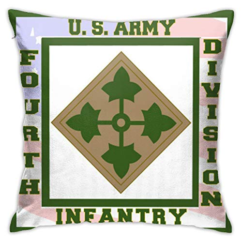 (4th Infantry Division Logo Throw Pillow Case)