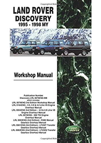 land rover discovery workshop manual 1995 1998 my brooklands books rh amazon com Briggs and Stratton Overhaul Manual Briggs and Stratton Overhaul Manual