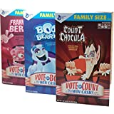 Monsters Cereals Count Chocula Frankenberry Boo Berry Variety Family Pack