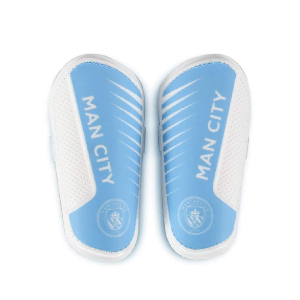 Manchester City F.C. - Espinilleras para niños - Azul - Talla ...