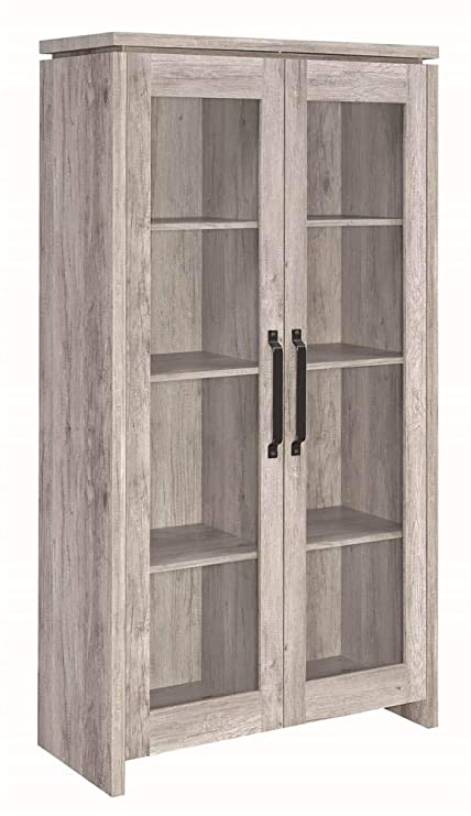 Superbe Coaster Home Furnishings Curio Cabinet In Gray Driftwood