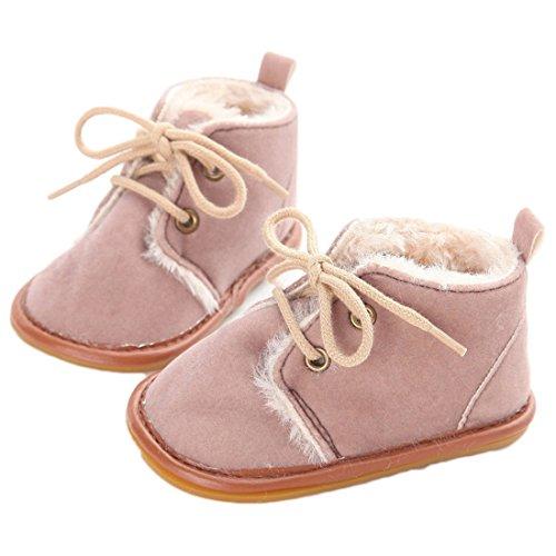 VWH Baby weiche Sohle Schnee Aufladungen Krippe Schuhe Kleinkind Stiefel, 0-18 Monate Braun