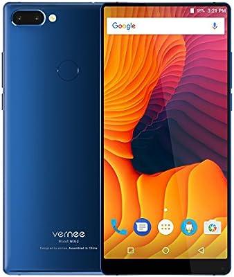 Vernee Mix 2 4G Android 7.0 Smartphone Libre,Pantalla FHD+ de 6.0 Pulgadas, 4GB RAM 64GB ROM Octa Core, Teléfono Móvil Dual Sim con Huella Digital, Batería 4200mAh,Cámaras Traseras Duales (Azul): Amazon.es: Electrónica