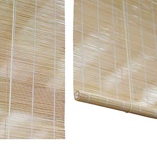 - Roll Up Blinds,Natural Bamboo Roller Shade,50% Sun Shade, Roman Shades,Privacy Window - for Patio, Balcony,Doors,Teahouse,Kitchen, Office,Garden, Patio ZHANGAIZHEN