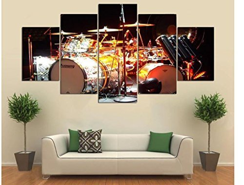 5 Cascade The Instrument Drum Scene Canvas Wall Painting Picture Home Decoration Without Frame Inc by ShopIdea