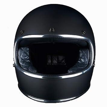 CARWORD Thompson Moto Casco Cascos para Moto Full Face Harley Casco Moto Vintage Jet Cascos De Motociclista Fuera De Carretera: Amazon.es: Deportes y aire ...