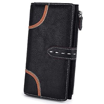 UTO Women Wallet PU 20 Card Photo Holder Organizer Zipper Phone Pocket B Purse