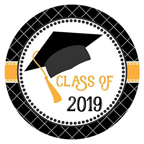 Graduation Cap Class of 2019 Sticker Labels - College University Education Degree Party - Set of 30 ()