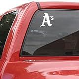 MLB Oakland Athletics 8x8 White Decal Logo
