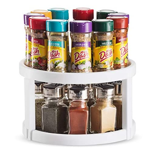 Kitchen 2 Pack Non Skid Lazy Susan Turntable Cabinet Organizer – 2 Tier 360 Degree Rotating Spice Rack – 10 Inch Spinning… lazy susans