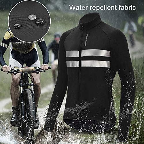 Langarm Thermofleece Winter Fahrradjacke und 3D Gepolsterte Tr/ägerhose Roeam Fahrradbekleidung Damen