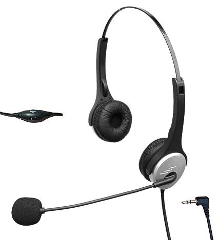 4Call H502J25 2,5 con auriculares con cancelación de ruido Mic para Polycom Cisco Linksys