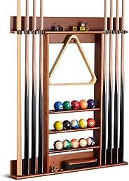 XCSOURCE Pool Cue Rack, Pool Stick Holder Wall Mount, 8 Pool Billiard Stick Holder Wall Billiard Cue Rack, Mad