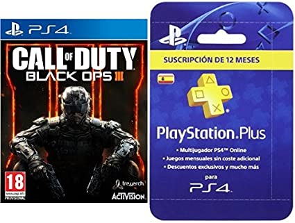 Call Of Duty: Black Ops III + PlayStation Plus - Tarjeta de ...