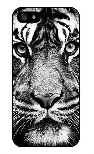 Black And White Tiger Phone Case Custom Well-designed Hard Case Cover Protector For Iphone 5 5s