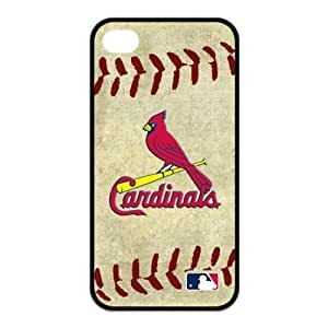 MLB St. Louis Cardinals Team For Iphone4/4s Black or White Leather Rubber Cover Case-Creative New Life by icecream design