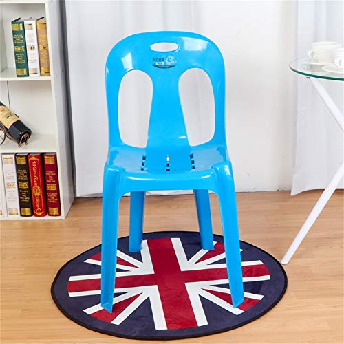 - H Dining Chair, Office Lounge Chair, Negotiation Chair,Fashion Simple Geometric Plastic Back Conference Chair (Color : Blue)
