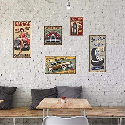 DZXGY Coches Y Belleza Cartel De Metal Carteles De Chapa Efecto PVC Retro Pegatinas De Pared para Bar Pub Cafe Decoración...