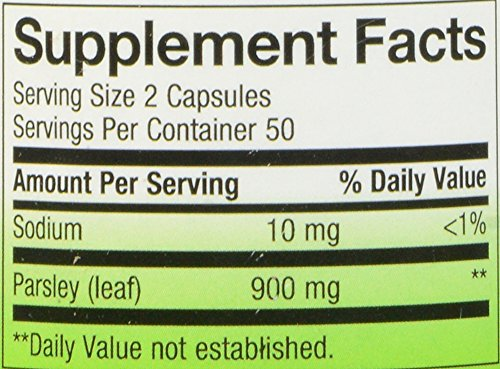 033674153000 - Nature's Way Parsley Leaf Capsules, 450 mg, 100-Count carousel main 1