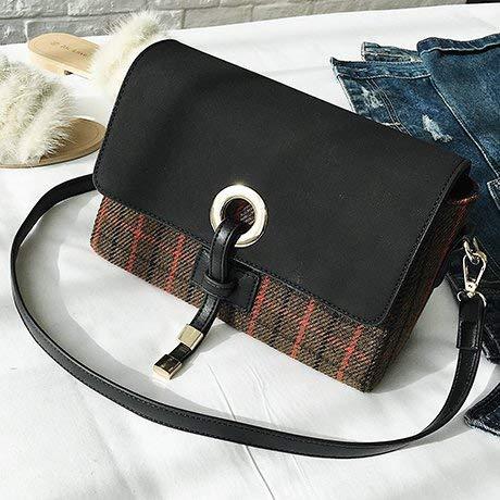 WSZMD Business Laptop Backpack Notebook Rucksack Small Bag Female Striped Shoulder Bag Messenger Bag (Color : Coffee Color)