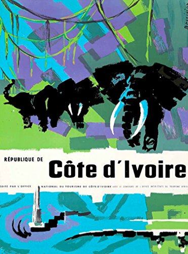 (A SLICE IN TIME Republique De Côte d'Ivoire Africa Vintage African Travel Advertisement Art Poster Print. Poster measures 10 x 13.5 inches)