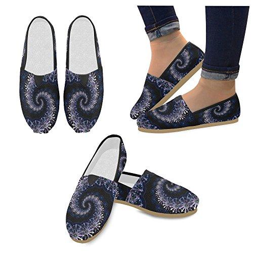 D-story Mode Sneakers Lägenheter Kvinna Klassisk Slip-on Tygskor Loafers Fraktal