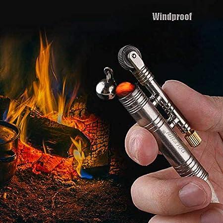 Outdoor Camping Fire Starter Rope Lighter Multicolor Retro Campanula Rattlesnake Rope Velvet Metal Lighter Shepherd Lighter No Kerosene//Natural Gas GS 3Pcs Retro Lighter