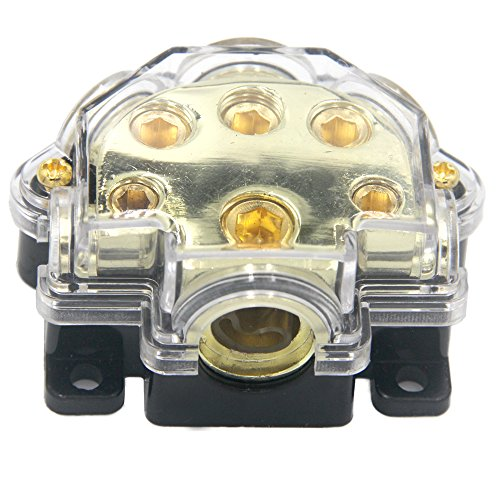 - ZOOKOTO Car Vehicle Audio 5 Way Out Power Ground Distributor Block Fuse Holder (Five Way)