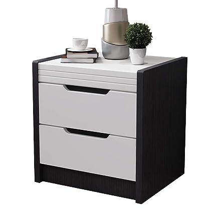 Amazon.com: QYSZYG Bedside Table Simple Modern Black Paint ...