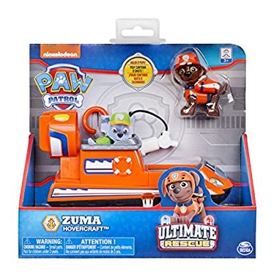 Paw Patrol Ultimate Rescue - Zuma's Ultimate Rescue Hovercraft with Moving Propellers & Rescue Hook, for Ages 3 & Up: Toys & Games