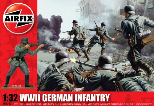 Airfix A02702 1:32 Scale German Infantry Figures Classic Kit Series 2