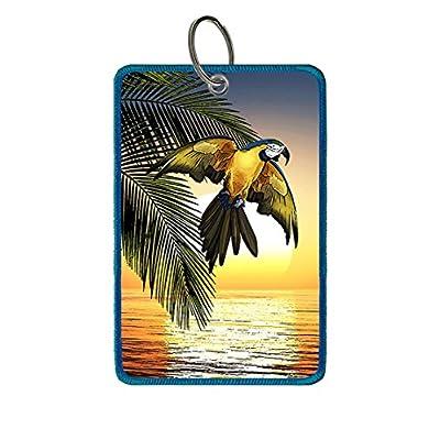 Saobao Travel Luggage Tag Flowers And Bird PU Leather Baggage Travel ID