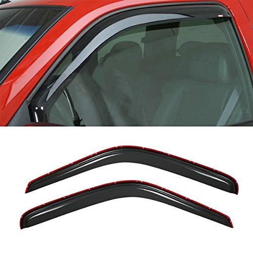 Viksee 2pcs 94-01 Ram 1500 94-02 Ram 2500/3500 Sun Rain Guard Vent Shade Window Visors (Except Towing Mirror) - Rain Guard Visors