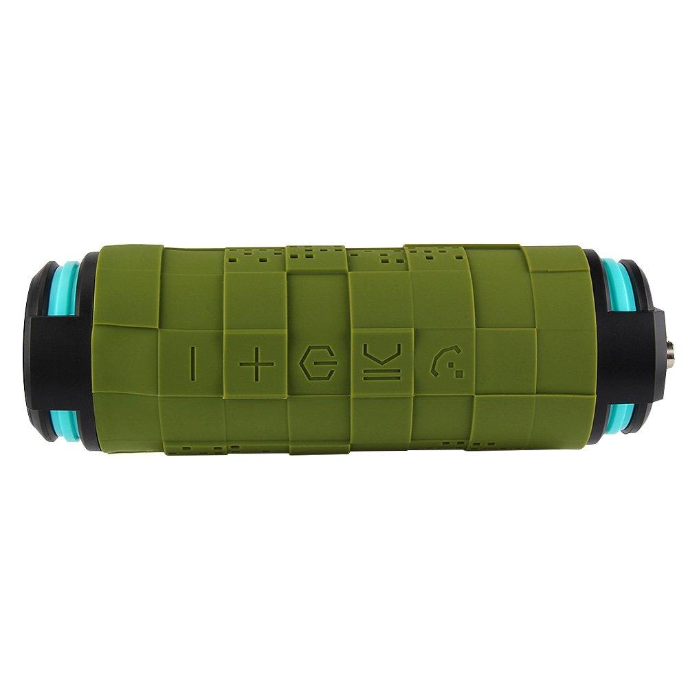 THECOO® BTA610 Außen Sport Wasserdicht Stoßstaubdicht Tragbare Bluetooth 4.0 -Outdoor Lautsprecher , 2x 5Watt , eingebaute 5200 mAh Li- Ionen-Akku Deep Bass Booster , gebaut in den Mic, bis zu 12 Stunden Spielzeit und auch als powerbank f&u