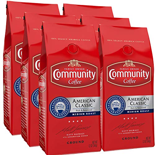 Community Coffee American Classic Ground Coffee, 12 Ounces (6 Pack)