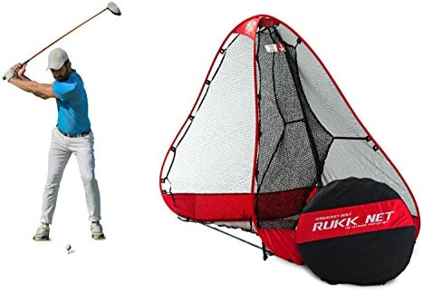 Rukket 10x7ft Pop Up Golf Net Orginal Rukknet Practice Driving Indoor and Outdoor Backyard Swing Training Aids