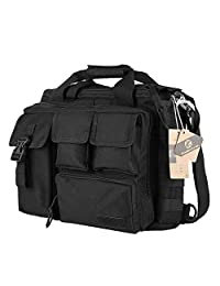 "Koolertron Multifunction Mens Military Outdoor Nylon Shoulder Messenger Bag Handbags Briefcase Large Enough for 15.6"" Laptop"