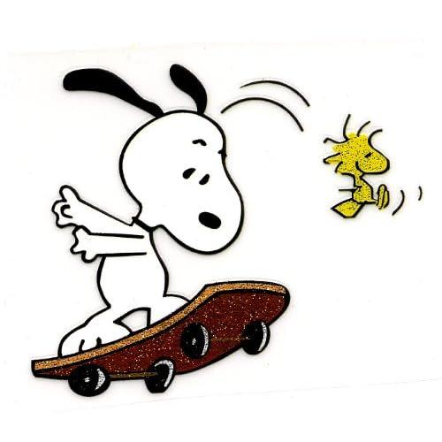 Amazon.com : Snoopy balancing on Skateboard and Woodstock Heat Iron On