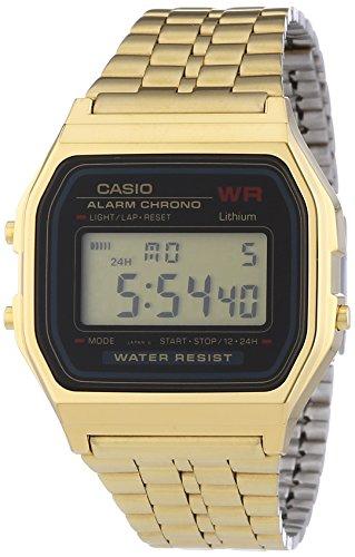 Casio Vintage Collection Digital Unisex Bracelet Watch (Gold) by Casio