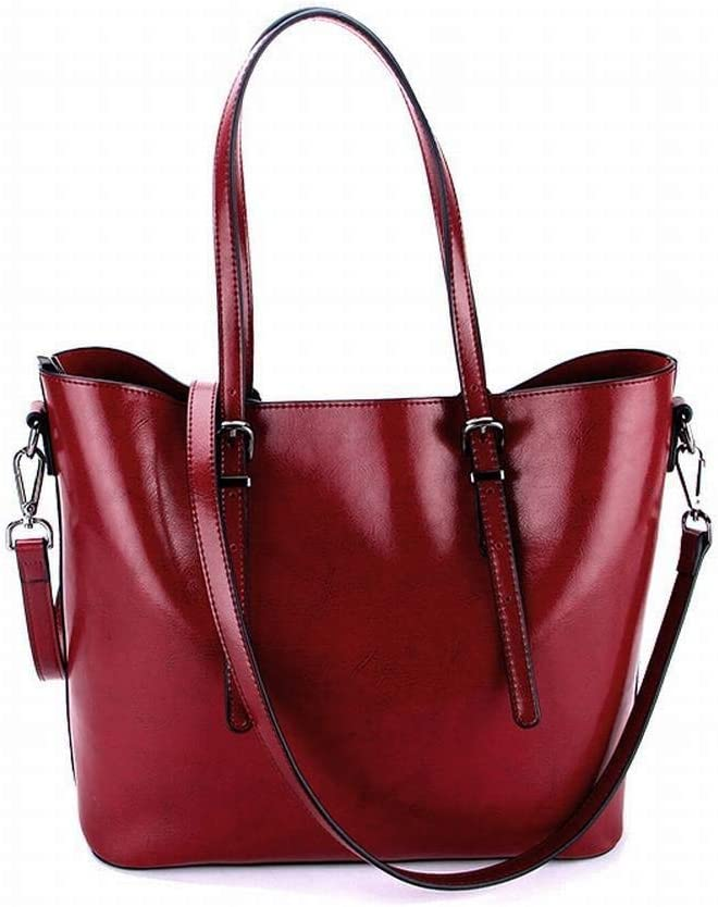 Wine red CATS Creative Fashion Multi-Functional Womens Bag Shoulder Diagonal Womens Bag Leather Tote All Match Bag for Women