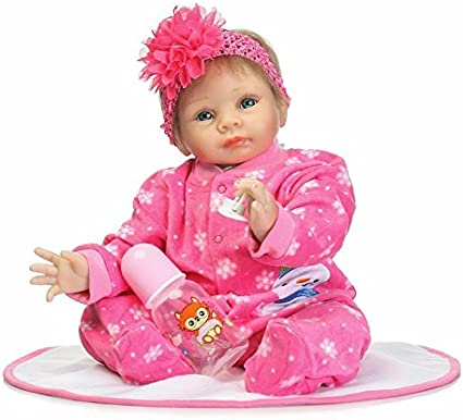 55cm Lifelike Newborn Baby Dolls NPK Reborn Baby Doll High Vinyl Girl Toy 22in