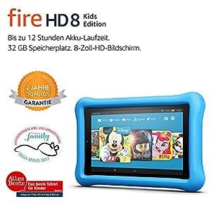 Fire HD 8 Kids Edition-Tablet, 20,3 cm (8 Zoll) HD Display, 32 GB, blaue kindgerechte Hülle