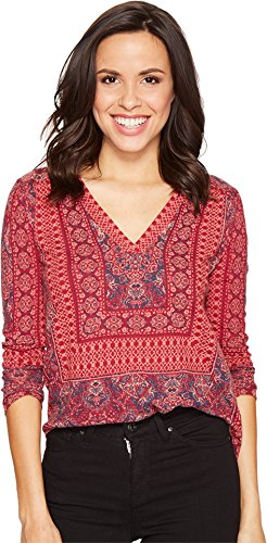 lucky-brand-womens-border-print-top-bright-rose-multi-shirt